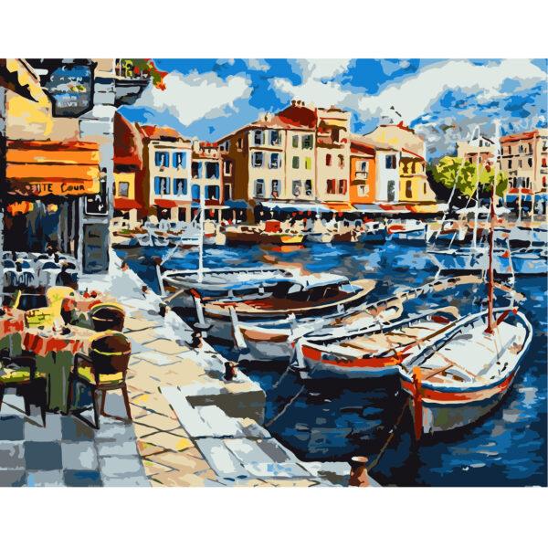 Картина для росписи по номерам «Тихая гавань», 40х50см