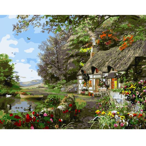 Картина для росписи по номерам «Утренние краски», 40х50см