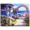 Картина для росписи по номерам «Домик с цветами», 40х50см