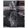 Картина для росписи по номерам «Кот и тигр», 40х50см