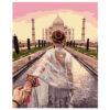 Картина для росписи по номерам «Девушка около Тадж-Махала», 40х50см