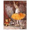 Картина для росписи по номерам «Маленькая балерина», 40х50см