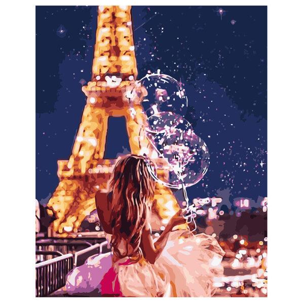 Картина для росписи по номерам «Сказочный Париж», 40х50см