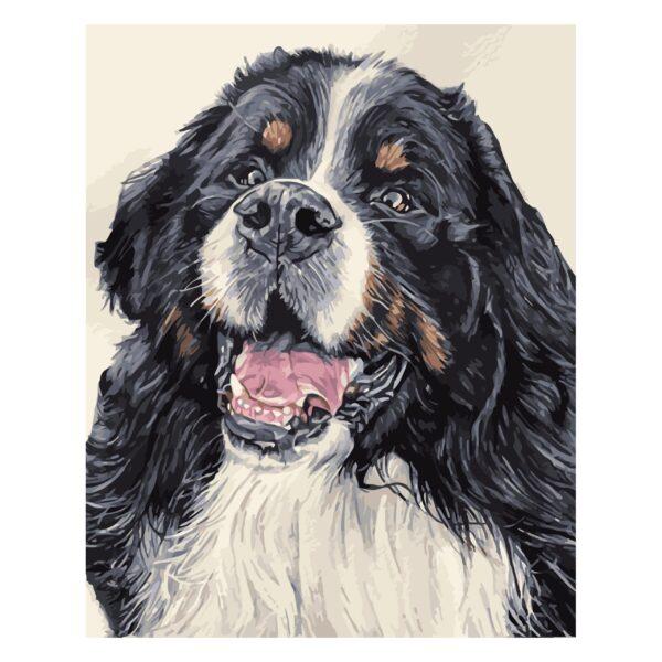 Картина для росписи по номерам «Верный пес», 40х50см