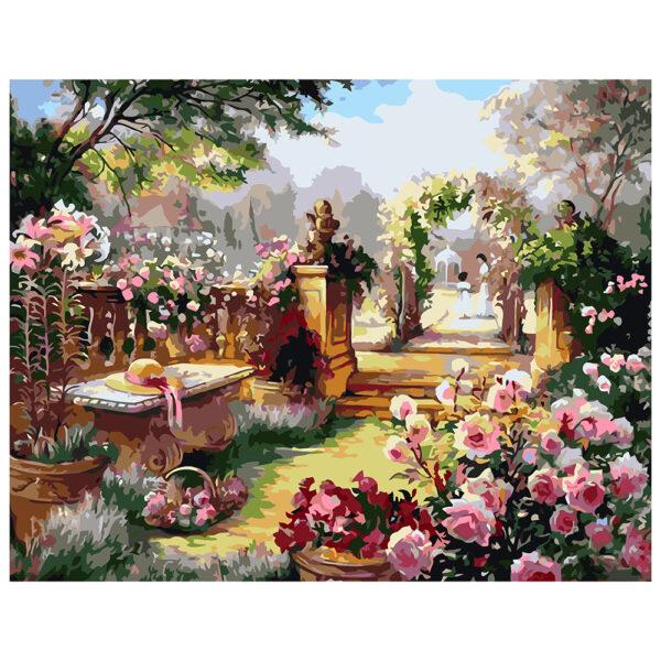 Картина для росписи по номерам «Таинственный сад», 40х50см