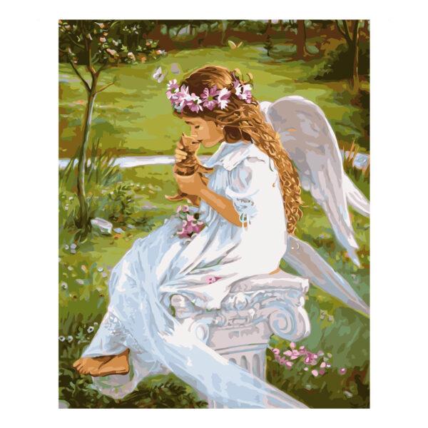Картина для росписи по номерам «Гармония ангела с природой», 40х50см