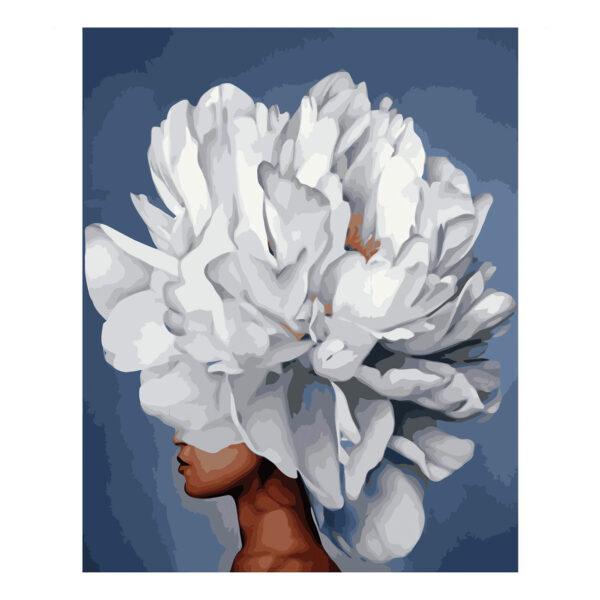 Картина для росписи по номерам «Изысканный пион», 40х50см