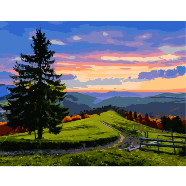 Картина для росписи по номерам «Вечерний пейзаж», 40х50см