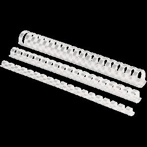 Пружина пластиковая, Fellowes, d=16 мм, 101-120 листов, белая