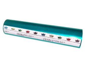 Фольга для ламинатора Crown Roll Leaf, 30,5м, бирюзовая