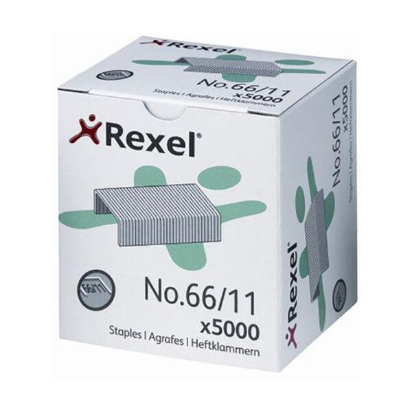Скобы REXEL 66/11 Strong, 5000шт