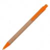 Ручка шариковая, автоматическая, бумажная Эко (6 цветов) 61986