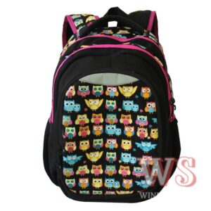 Рюкзак для школы Winner Style 241, чёрный с совами