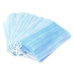 Маски медицинские нетканные, бело-голубые, 3 слоя, SefeMed 50шт.