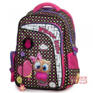 Рюкзак для школы Winner Style 194-2, чёрно-розовый