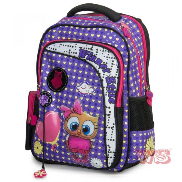 Рюкзак для школы Winner Style 194-2, сиреневый