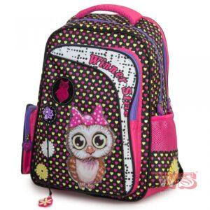 Рюкзак для школы Winner Style 194-1, черный с розовым