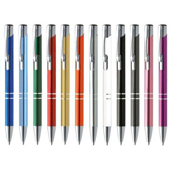 Ручка шариковая автоматическая металлическая Cosko PRESTIGE (12 цветов)