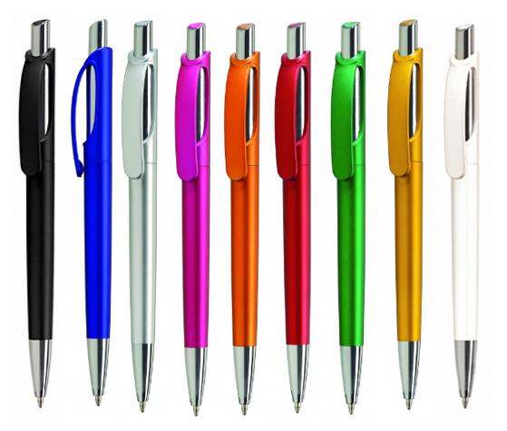 Ручка шариковая автоматическая пластиковая Toro lux (9 цветов)