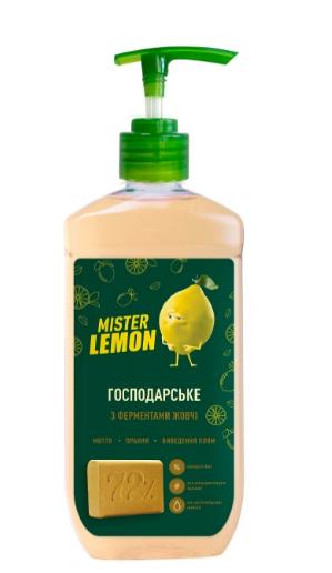 Жидкое хозяйственное мыло MISTER LEMON, 500мл, с дозатором
