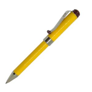 Ручка шариковая автоматическая металлическая Surfer, желтая, в футляре