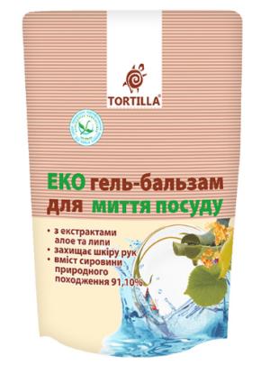 Гель-бальзам для мытья посуды TORTILLA Эко 500мл, запасной