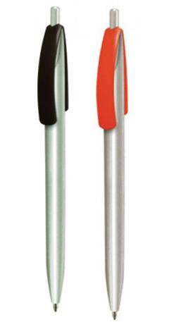 Ручка шариковая автоматическая пластиковая CLEO silver (2 цвета)