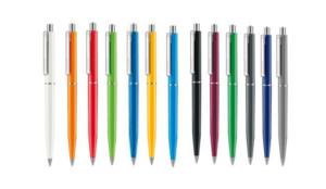Ручка шариковая автоматическая пластиковая Point Polished (13 цветов)