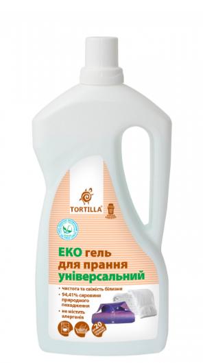 Гель для стирки ЭКО TORTILLA  универсальный 1000 мл