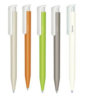 Ручка шариковая автоматическая пластиковая Super Hit Bio (5 цветов)