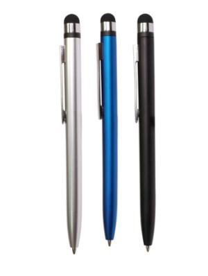 Ручка шариковая автоматическая пластиковая Sofia, со стилусом