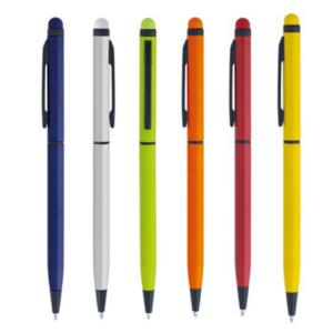 Ручка шариковая автоматическая металлическая MIRO (6 цветов) со стилусом