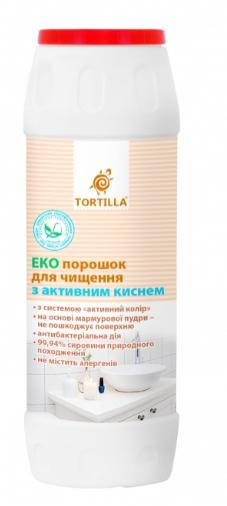 Порошок для чистки TORTILLA Эко, с активным кислородом антибактериальный, 500г