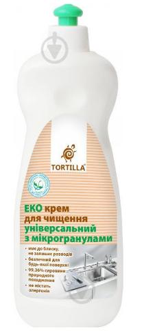 Крем для чистки универсальный TORTILLA Эко с микрогранулами, 500мл