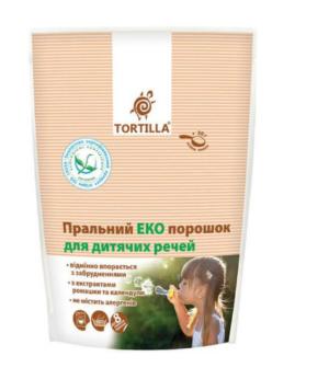 Стиральный ЭКО порошок TORTILLA для детских вещей 400г