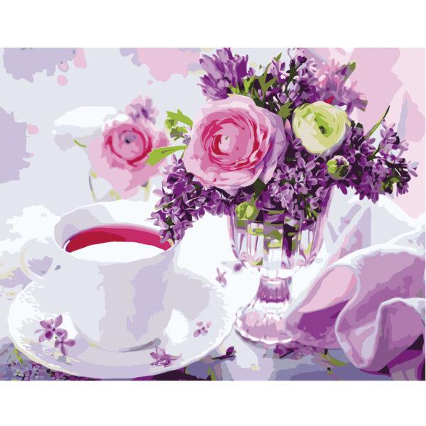 Картина для росписи по номерам «Утренний чай», 40х50см