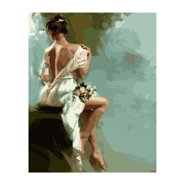 Картина для росписи по номерам «Хрупкая девушка», 40х50см