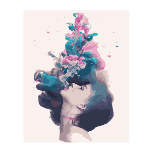Картина для росписи по номерам «Девушка под водой», 40х50см