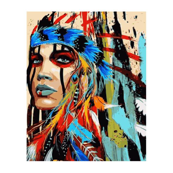 Картина для росписи по номерам «Indian Women», 40х50см