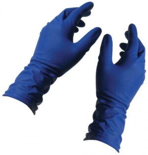 Перчатки медицинские латексные Medicom 1101 E, XL-10р, без пудры, 50шт, синие в боксе