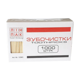 Зубочистки деревянные ЛИНПАК 1000шт, картонная упаковка