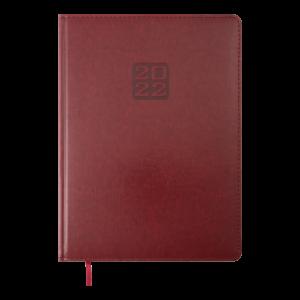 Ежедневник 2022 А4 BRAVO(Soft) датированный бордовый, кремовый блок