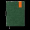 Ежедневник датированный 2022 VERONA, А4, твердая обложка, кожзам, зеленый, тонированный срез