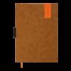 Ежедневник датированный 2022 VERONA, А4, твердая обложка, кожзам, светло-коричневый, тонированный срез