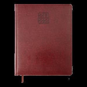 Еженедельник А4 2022 BRAVO (SOFT) бордовый