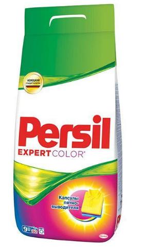Стиральный порошок PERSIL автомат, 9кг для цветных тканей, в ассортименте