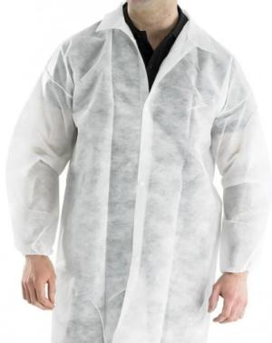 Халат медицинский нетканый, белый, размер XL на кнопках 1шт.