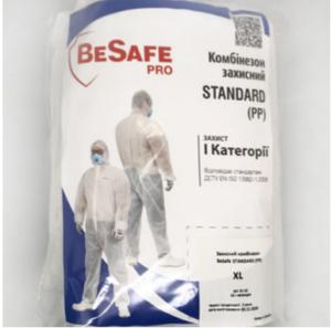 Комбинезон защитный BESAFE STANDARD (PP), размер XL, белый