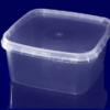 Пищевой контейнер квадратный МС-300+крышка 300мл 12,5х12,5см h=3,9см 600шт с контрол. замком