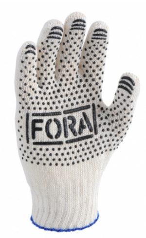 Перчатки DOLOLI FORA с ПВХ точкой, ассорти